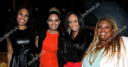 """L-R) Monica """"Doll Phace"""" Floyed, Amber Ravenel, Tahiry Wright and Echo Hattix attend Holla II Movie Premiere - NYC on Wed, at AMC Empire 25 in New York. NY"""