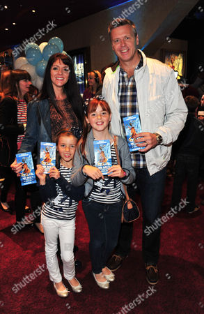 Clare Backley, Steve Backley, Sophia Backley, Ellese Backley arrives at the Ice Age 4 Continental Drift Gala Screening at Empire Leicester Square, on in London