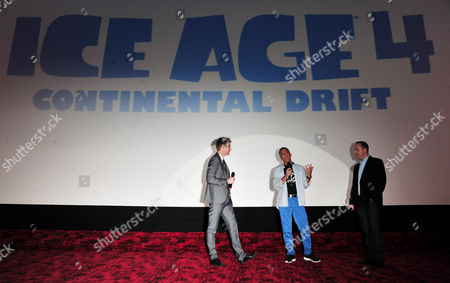 Greg Stevens, Steve Martino, Michael Thurmeier arrives at the Ice Age 4 Continental Drift Gala Screening at Empire Leicester Square, on in London