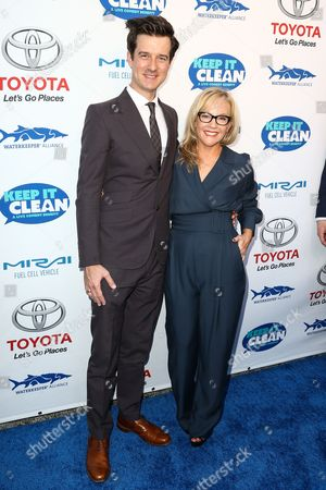Stock Image of Christian Hebel, left, and Rachel Harris attend the Keep it Clean Live Comedy Benefit held at Avalon Hollywood, in Los Angeles