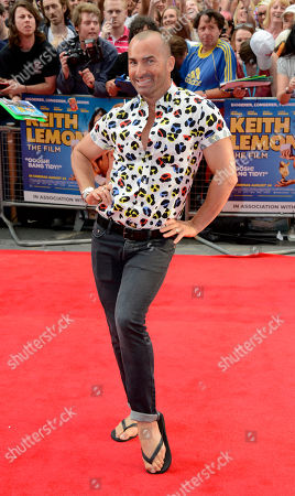 Louis Spence poses at the Keith Lemon: The film UK Premiere at the Odeon West End on in London