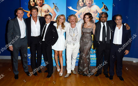 Zygi Kamasa, David Hasselhoff, Kevin Bishop, Rosie Parker, Leigh Francis, Kelly Brook, Paul Angunawela, Guy Avshalom poses at the Keith Lemon: The film UK Premiere at the Odeon West End on in London