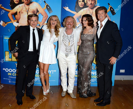 Kevin Bishop, Rosie Parker, Leigh Francis, Kelly Brook, David Hasselhoff poses at the Keith Lemon: The film UK Premiere at the Odeon West End on in London