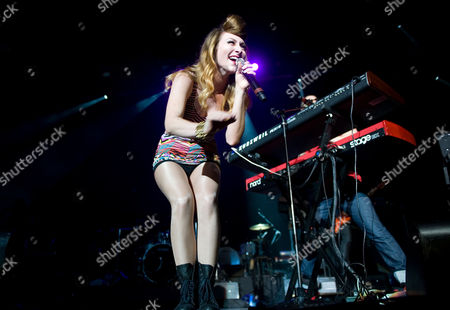 Singer Amy Heidemann and Nick (Louis) Noonan of Karmin perform at KiSS 92.5's Wham Bam at the Molson Amphitheatre, in Toronto
