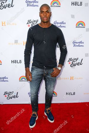 "Stock Picture of Denzel Slager arrives at the LA Premiere of ""Being Evel"" at ArcLight Cinemas, in Los Angeles"