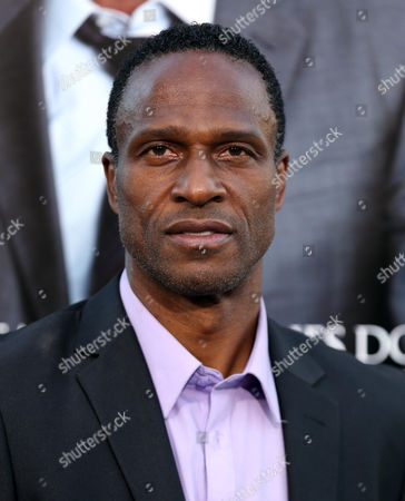 "Willie Gault arrives at the premiere of ""Draft Day"" on in Los Angeles"