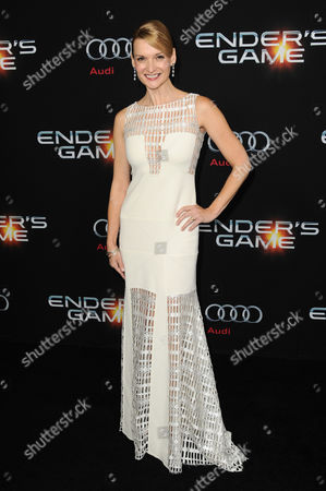 """Andrea Powell arrives at the LA Premiere of """"Ender's Game"""" at TCL Chinese Theatre on in Los Angeles"""