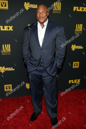 """Bodybuilder Phil Heath arrive at the premiere of """"Generation Iron"""" at the Chinese 6 Theatres on in Los Angeles"""