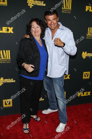 """Danny Musico and his mother arrive at the premiere of """"Generation Iron"""" at the Chinese 6 Theatres on in Los Angeles"""