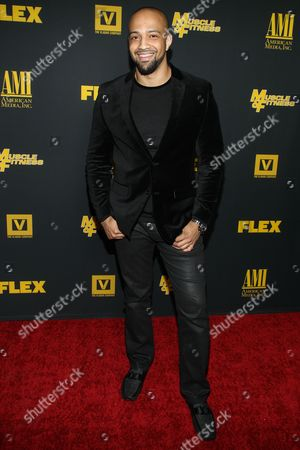 """Producer Edwin Mejia arrives at the premiere of """"Generation Iron"""" at the Chinese 6 Theatres on in Los Angeles"""