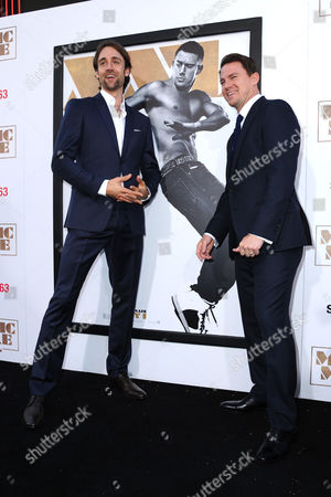 """Producer/writer Reid Carolin, left, and Channing Tatum arrive at the Los Angeles premiere of """"Magic Mike XXL"""" at the TCL Chinese Theatre on"""
