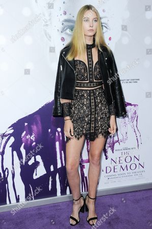 """Stock Picture of Charlize Cotton attends the LA Premiere of """"The Neon Demon"""" held at Arclight Cinerama Dome, in Los Angeles"""
