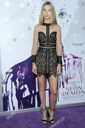 """Stock Photo of Charlize Cotton attends the LA Premiere of """"The Neon Demon"""" held at Arclight Cinerama Dome, in Los Angeles"""