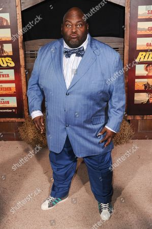 """Lavell Crawford attends the LA Premiere of """"The Ridiculous 6"""" held at AMC Universal Citywalk, in Universal City, Calif"""