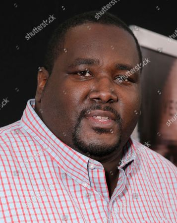 """Quinton Aaron arrives at the Los Angeles premiere of """"Transcendence"""" at the Westwood Regency Village Theater on"""