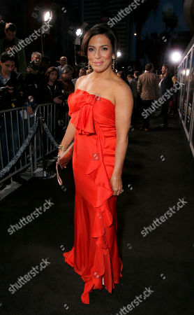 """Claudia Ferri arrives at the LA premiere of """"Rogue"""" at the ArcLight Hollywood on in Los Angeles"""