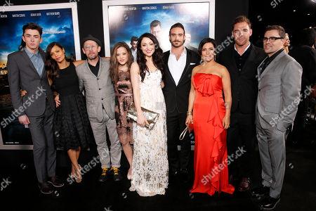"Matthew Beard, Thandie Newton, Ian Hart, Sarah Jeffery, Leah Gibson, Joshua Sasse, Claudia Ferri, Marton Csokas and Kavan Smith arrive at the LA premiere of ""Rogue"" at the ArcLight Hollywood on in Los Angeles"