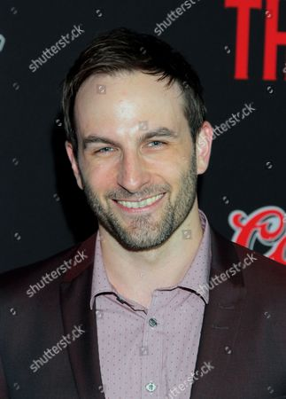 "Actor Drew Nelson seen at LA Premiere Screening of ""The Strain"" - Arrivals at DGA Theater, in Los Angeles, California"