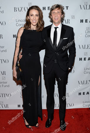 Alexandra Kerry, left, and Julien Dobbs-Higginson attend An Evening Honoring Valentino, hosted by the Lincoln Center Corporate Fund at Alice Tully Hall, in New York