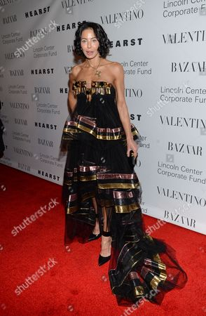 "Lisa Maria Falcone attends ""An Evening Honoring Valentino"" gala, hosted by the Lincoln Center Corporate Fund, at Alice Tully Hall, in New York"