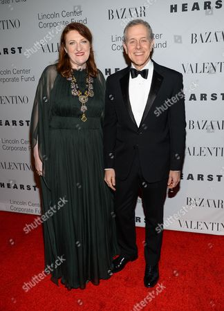 """Stock Image of Harper's Bazaar editor-in-chief, Glenda Bailey and Hearst CEO Steve Schwartz attends """"An Evening Honoring Valentino"""" gala, hosted by the Lincoln Center Corporate Fund, at Alice Tully Hall, in New York"""
