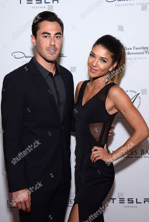 Scotty McKnight and Jessica Szohr arrive at the Los Angeles Ballet Gala - Arrivals held at the Beverly Wilshire Hotel, in Beverly Hills, California