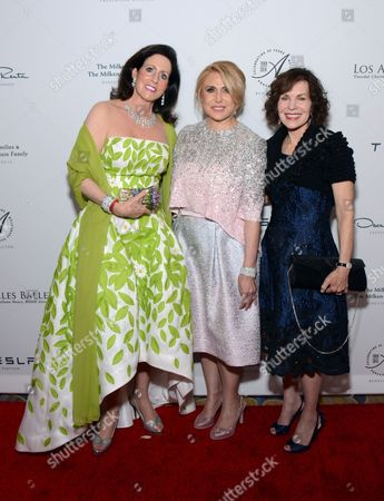 Debra Lustig, Ghada Irani, and Lori Milken arrive at the Los Angeles Ballet Gala - Arrivals held at the Beverly Wilshire Hotel, in Beverly Hills, California