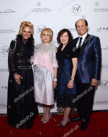 Dina Leeds, Ghada Irani, Lori Milken and Michael Milken arrive at the Los Angeles Ballet Gala - Arrivals held at the Beverly Wilshire Hotel, in Beverly Hills, California