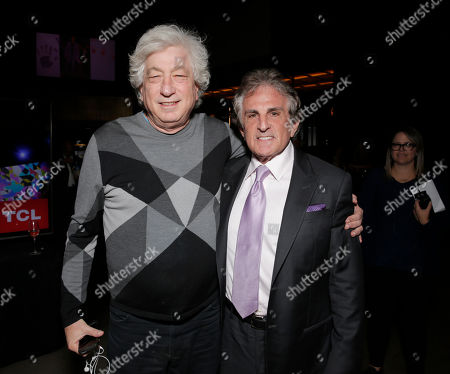 """Producer Avi Lerner and Director John Herzfeld attend the Los Angeles Premiere of Millenium Entertainment's """"Reach Me"""" at Chinese 6 Theaters on in Los Angeles"""
