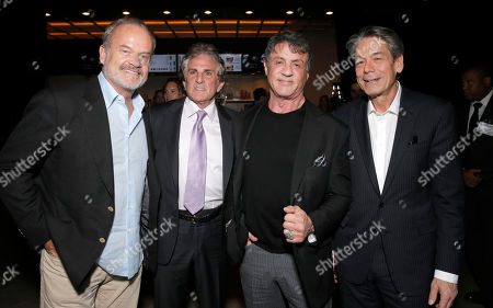 """Kelsey Grammer, Director John Herzfeld, Sylvester Stallone and Millennium Entertainment CEO Bill Lee attend the Los Angeles Premiere of Millenium Entertainment's """"Reach Me"""" at Chinese 6 Theaters on in Los Angeles"""