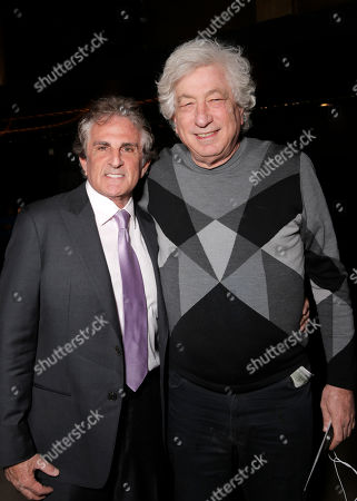 """Director John Herzfeld and producer Avi Lerner attend the Los Angeles Premiere of Millenium Entertainment's """"Reach Me"""" at Chinese 6 Theaters on in Los Angeles"""