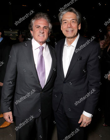 """Director John Herzfeld and Millennium Entertainment CEO Bill Lee attend the Los Angeles Premiere of Millenium Entertainment's """"Reach Me"""" at Chinese 6 Theaters on in Los Angeles"""