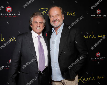"""Director John Herzfeld and Kelsey Grammer attend the Los Angeles Premiere of Millenium Entertainment's """"Reach Me"""" at Chinese 6 Theaters on in Los Angeles"""