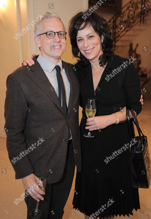 Donald Margulies and Jane Kaczmarek attend the LOUIS XIII and Audi Chairman's Circle Dinner for the Geffen Playhouse on at a private residence in Los Angeles