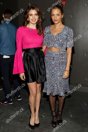 Stock Image of Erin Brady and fashion designer Charlotte Ronson attend the MBFW 2014 Fall/Winter Charlotte Ronson presentation on in New York