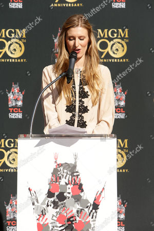 Stock Photo of Alwyn Hight Kushner, President & COO, TCL Chinese Theatre kicks off MGM's 90th Anniversary with the company's iconic mascot Leo the Lion's Paw Print ceremony at the TCL Chinese Theater in Hollywood on