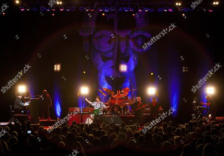 David Paich, Jenny Douglas, Mabvuto Carpenter, Steve Lukather, Keith Carlock, David Hungate, Joseph Williams and Steve Porcaro performed as part of the Michael McDonald and Toto co-headlining tour at the Fox Theatre, in Atlanta, Ga
