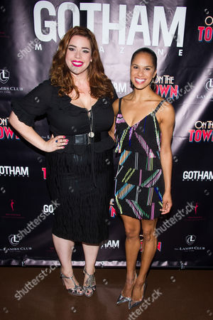 """Alysha Umphress, left, and Misty Copeland attend the after party for Misty's Broadway debut in """"On The Town"""" at the Lamb's Club at The Hotel Chatwal, in New York"""