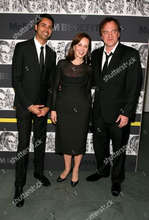 From left, MoMA Chief Curator of Film Rajendra Roy, philanthropist Marie-Josee Kravis and film director Quentin Tarantino attend the Museum of Modern Art Film Benefit Tribute to Quentin Tarantino, at the Museum of Modern Art on in New York