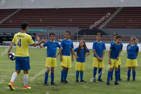 Editorial picture of Nesquik and Rafa Marquez Goalie Video, Guadalajara, Mexico