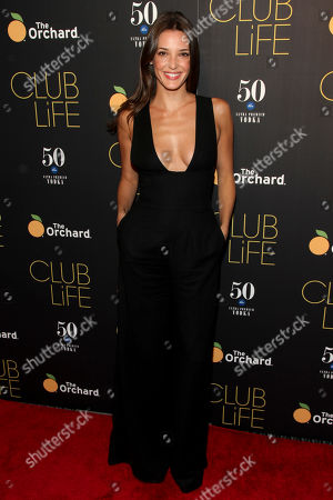 "Angela Bellotte attends the premiere of ""Club Life"" at Regal Cinemas Union Square, in New York"