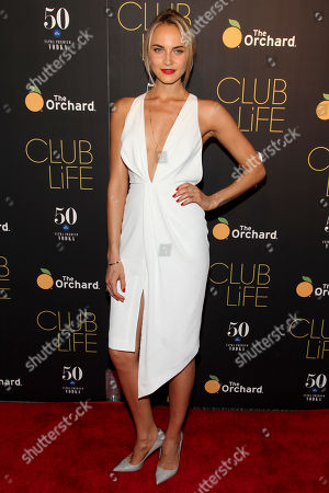 "Kristin Olenik attends the premiere of ""Club Life"" at Regal Cinemas Union Square, in New York"