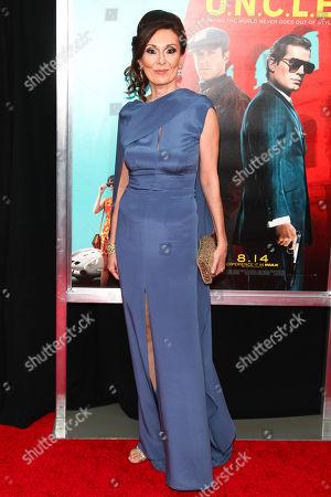 "Simona Caparrini attends the premiere of ""The Man From U.N.C.L.E."" at the Ziegfeld Theatre, in New York"