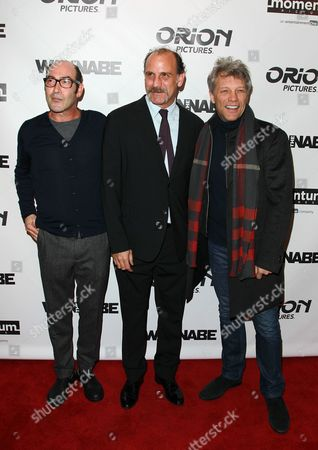 """Stock Photo of Actor Johnny Ventimiglia left, director Nick Sandow and singer Jon Bon Jovi attend the premiere of """"The Wannabe"""" at the Crosby Street Hotel, in New York"""