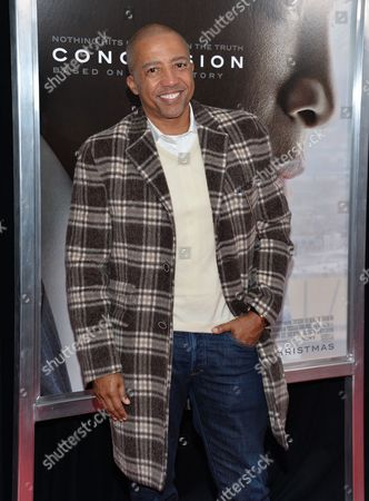 """Kevin Liles attends a special screening of """"Concussion"""" at the AMC Loews Lincoln Square, in New York"""
