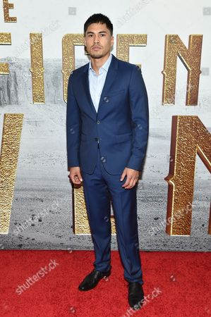 """Martin Sensmeier attends a special screening of """"The Magnificent Seven"""" at The Museum of Modern Art, in New York"""