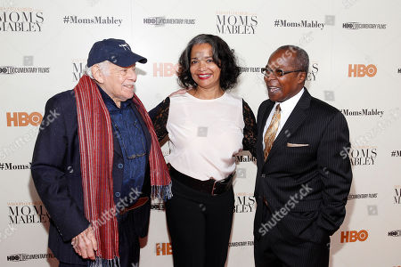 "Jerry Stiller, president and CEO of the Apollo Theater, Jonelle Procope and Billy Mitchell attend the special screening of HBO's Documentary ""Whoopi Goldberg presents Moms Mabley"" at The Apollo Theater on in New York"