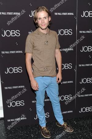 """Zach Booth attends a special screening of """"JOBS"""" hosted by The Wall Street Journal at the Museum of Modern Art on in New York"""