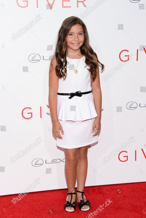 """Actress Emma Tremblay attends the world premiere of """"The Giver"""" at the Ziegfeld Theatre, in New York"""
