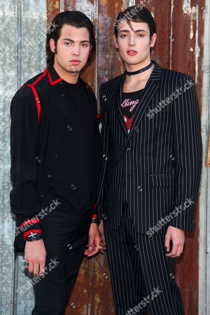 Peter Brant, left, and Harry Brant, right, attend the New York Fashion Week Spring/Summer 2016 Givenchy fashion show, in New York